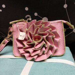 Jazzd ruffled change purse,NWT